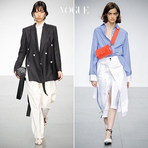 ▶️ Eudon Choi 18 S/S 컬렉션 룩 모두 감상하기.