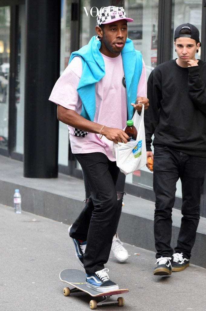 EXCLUSIVE: Tyler, the Creator skateboarding in Zurich, Switzerland on May 23, 2015. Pictured: Tyler the Creator Ref: SPL1026263  230515   EXCLUSIVE Picture by: D.Taylor / Splash News Splash News and Pictures Los Angeles:310-821-2666 New York: 212-619-2666 London:870-934-2666 photodesk@splashnews.com