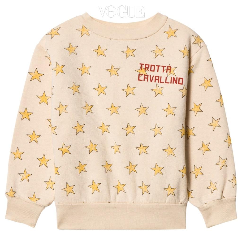 별 모티브가 그래픽적으로 프린트 된 스웨트 셔츠는 타오(The Animals Observatory).