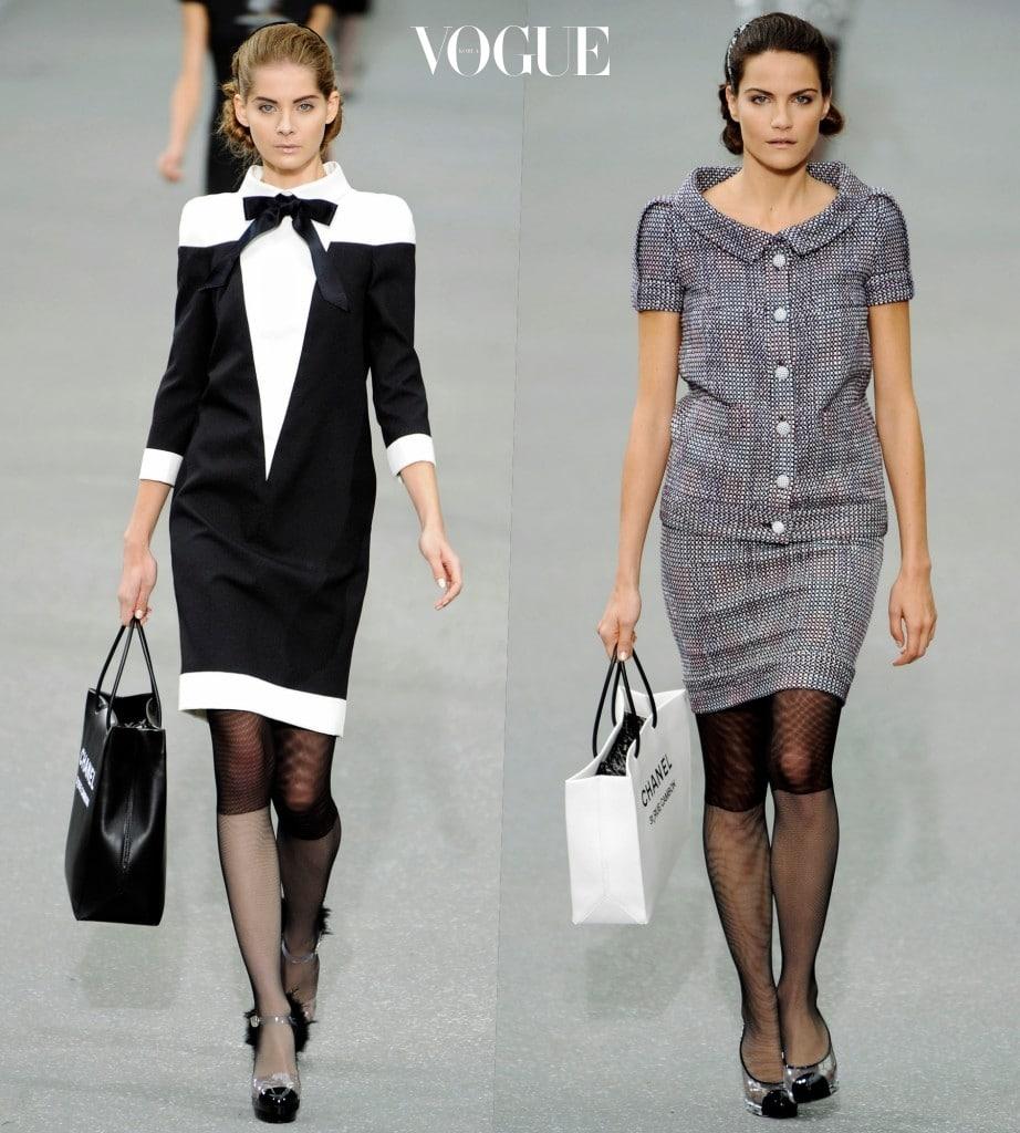 모델들의 손에 들린 우아한 쇼핑백의 등장에 놀란 건 그때나 지금이나 똑같지만, 그 시절과의 다른 점이 딱 하나 있습니다.