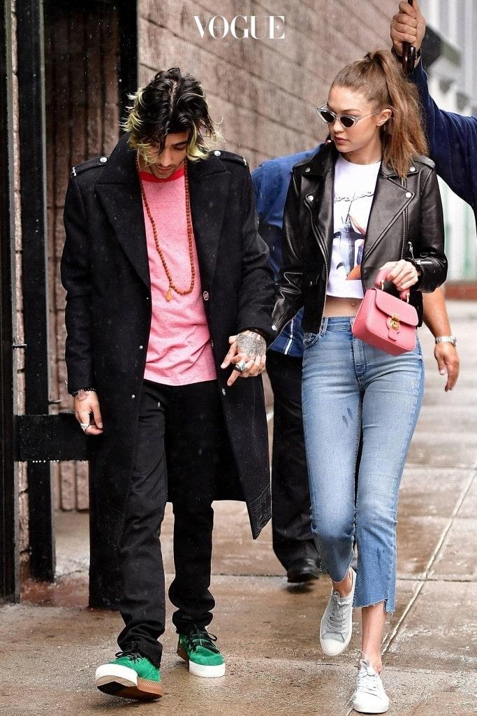 지지 하디드와 제인 말리크는 데이트를 하는 순간부터 온갖 파파라치의 표적이었죠.