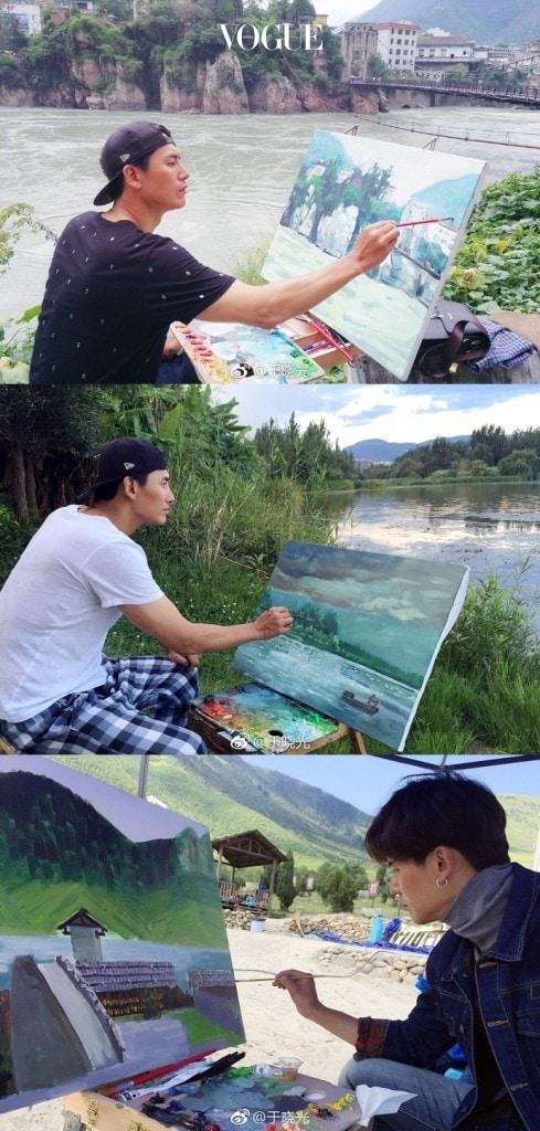 최근 방송을 통해 공개한 그림 실력을 통해 예술적인 면모까지 뽐낸 우효광, 이 출구 없는 매력 덕분에 중국 남자에 대한 이미지는 고공행진!