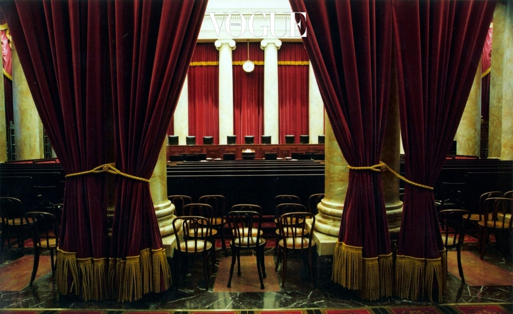 382638 01:  UNDATED FILE PHOTO:  The courtroom of the U.S. Supreme Court in Washington D.C. in this undated file photograph provided by the Court November 30, 2000.   (Photo by US Supreme Court/Franz Jantzen/Courtesy of Getty Images)