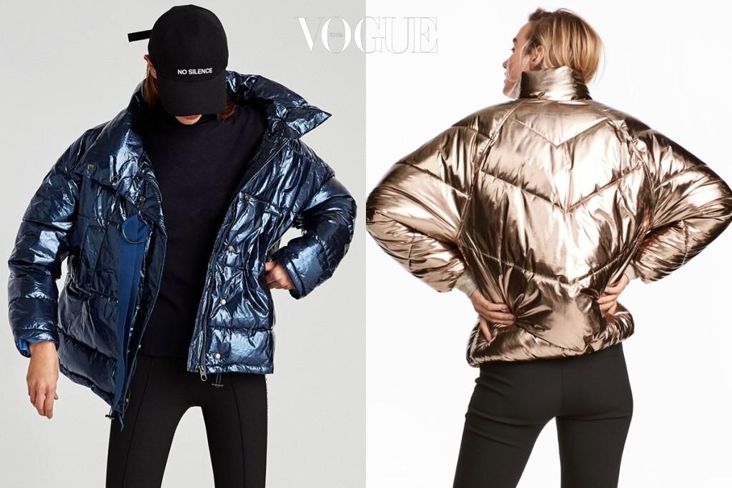 온통 검정색 옷으로 가득한 칙칙한 겨울 옷장에 이런 패딩 점퍼 하나 쯤은 있어야 하지 않겠어요? 켄달 제너처럼 어꺠를 젖혀 걸치듯 입어도 예쁘고, 지퍼를 여며 입어도 예쁘군요. (왼쪽)12만 9천원 ▶제품 구입하러 가기