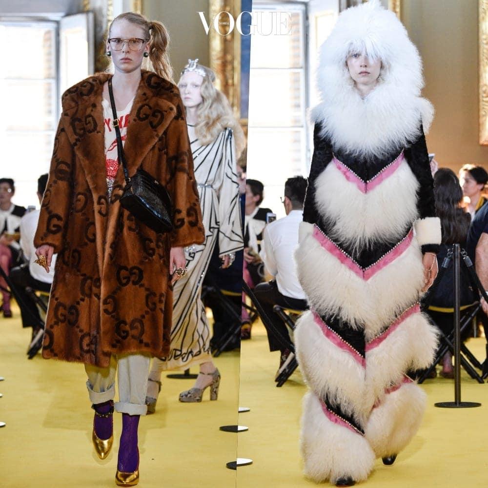 이 소식이 놀라움을 넘어 쇼킹에 가까웠던 이유는, 구찌의 부활을 이끈 크리에이티브 디렉터 알레산드로 미켈레(Alessandro Michele)의 디자인 강점 중 하나가 퍼를 사용한 스트리트 감성의 재해석이었기 때문.