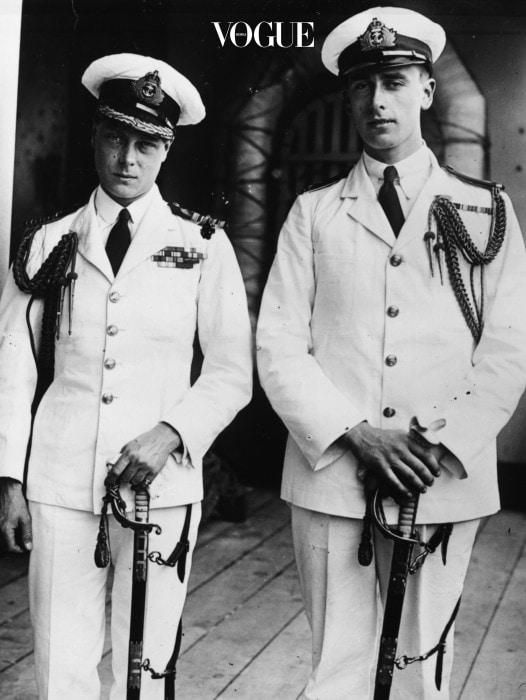 젊은 시절의 에드워드 윈저(오른쪽)