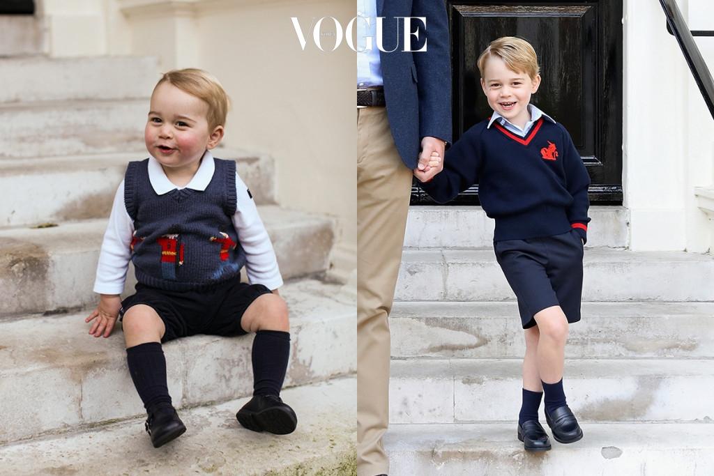 아장아장 걷던 조지 왕자가 언제 이렇게 훌쩍 커버렸나요?