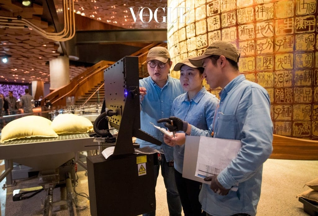 Coffee roasters look over equipment in the new Starbucks Roastery in Shanghai, China. Photographed on Friday, December 1, 2017.  (Joshua Trujillo, Starbucks)