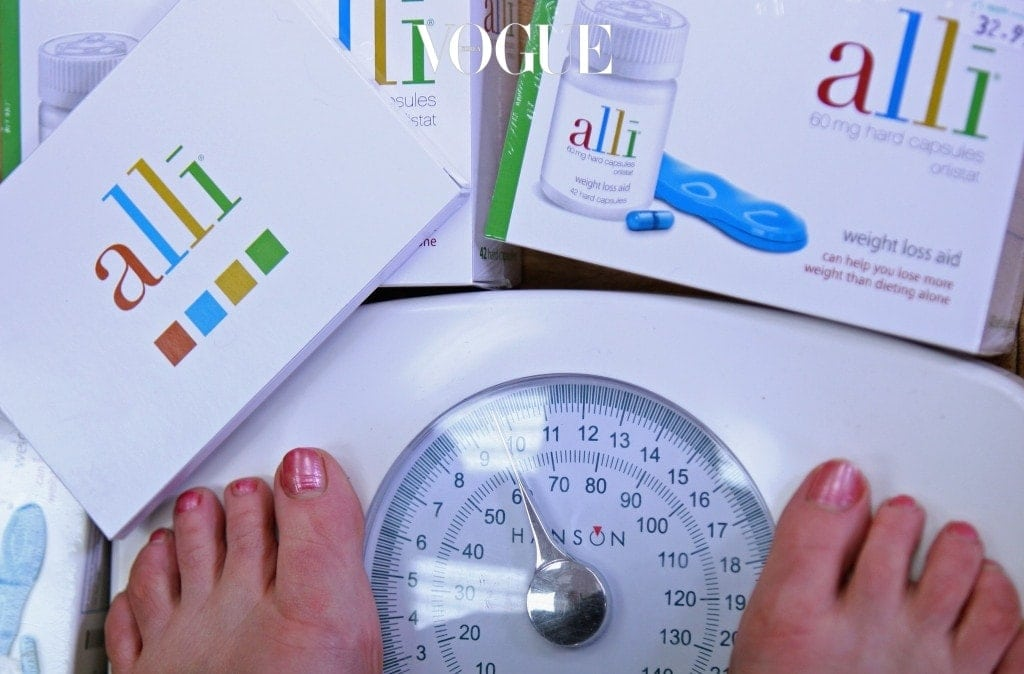 EDINBURGH, SCOTLAND - APRIL 23:  In this photo illustration, a woman wighs herself at G W Allan chemists, where the Alli slimming pill is stocked on April 23, 2009 in Edinburgh, Scotland. The slimming pill now available over the counter claims to cause 50 percent more weight loss when taken with every meal.  (Photo by Jeff J Mitchell/Getty Images)