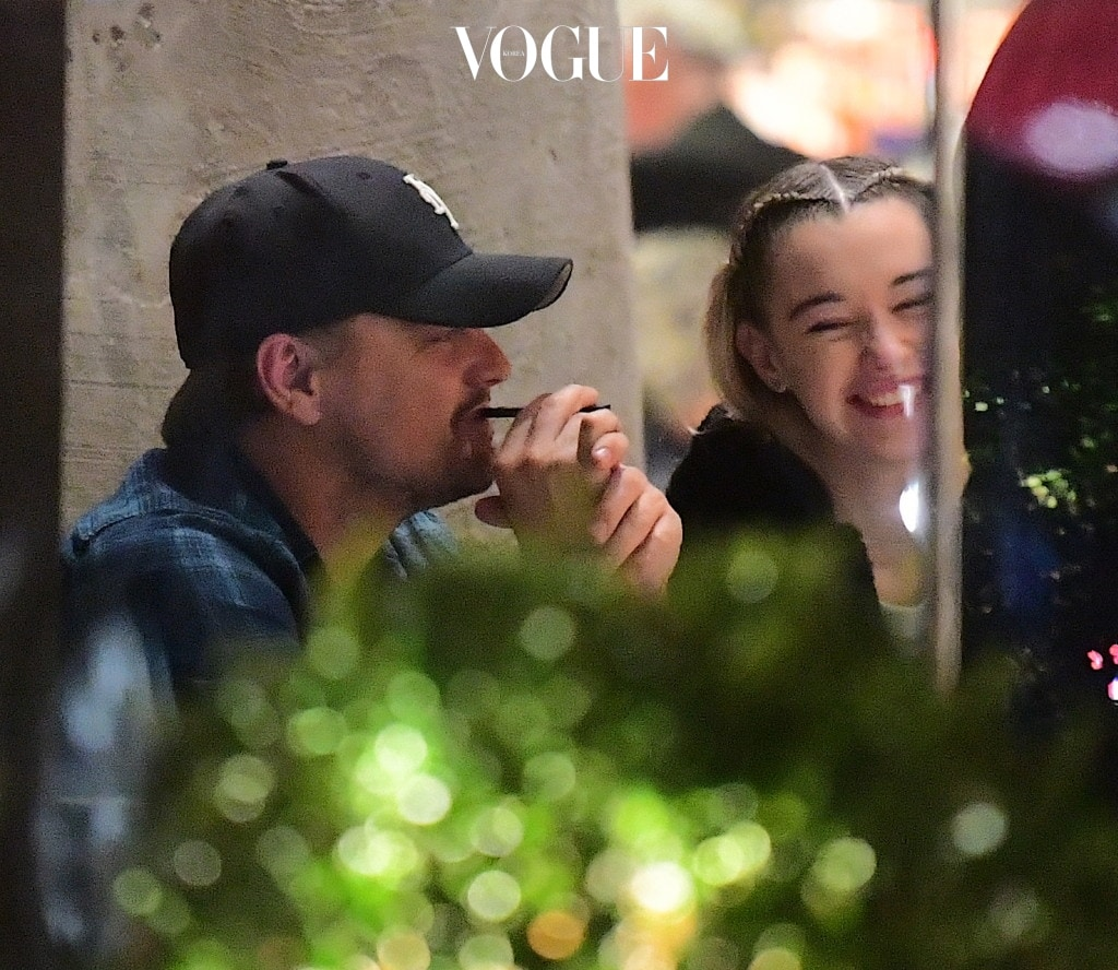 EXCLUSIVE: **PREMIUM EXCLUSIVE RATES APPLY**NO WEB UNTIL 3PM GMT NOV 17TH** Leonardo Dicaprio was spotted out to dinner in NYC on Wednesday night. He dined at Milo's Mediterranean Seafood restaurant in Midtown with a group of friends. He got flirty with model, Sarah Snyder, while at the table. The two of them laughed happily as they seemed to be enjoying each others company. Leo's friend, Helly Nahmad joined them , but Leo paid him no attention, chatting with Snyder, and puffing on his electric Vape cigarette. Snyder, who previously dated Jaden Smith, is a young looking 22 years old. After their meal, Leo left in an Uber solo, choosing to meet up with Sarah at a later time, after he spotted camera men outside the restaurant. Pics shot Nov 15th. Pictured: Leonardo Dicaprio, Sarah Snyder Ref: SPL1624465  171117   EXCLUSIVE Picture by: 247PAPS.TV / Splash News Splash News and Pictures Los Angeles:310-821-2666 New York:212-619-2666 London:870-934-2666 photodesk@splashnews.com