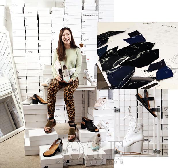 성수동 '먹자골목'에 꾸민 사무실에서의 레이크넨 디자이너 윤홍미.