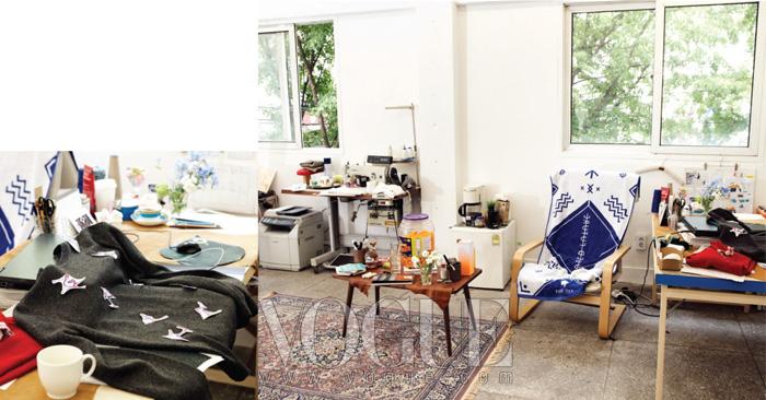 이사 가는 날. 전기 배선 공사와 페인트 칠이 한창인 공간. 유즈드 퓨처의 디자이너 이동인.