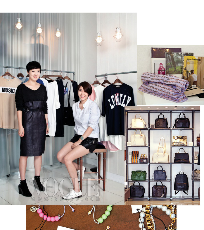 해운대에 서울의 젊은 디자이너들을 소개하는프로덕트의 바이어, 권민지와 차혜영 대표.