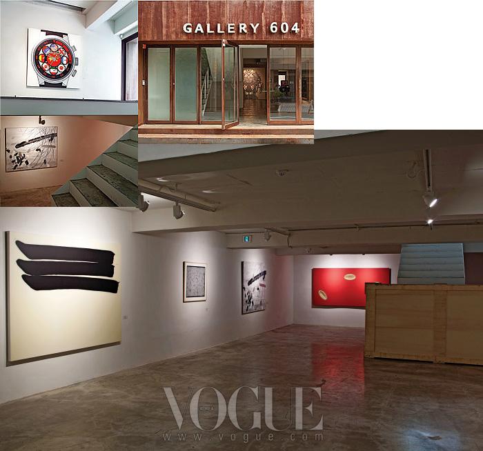 낡은 듯한 메탈로 장식된 입구가 인상적인'갤러리 604'. 주진스를 비롯한중국 작가와 이우환 등 한국 작가의작품도 만날 수 있다.