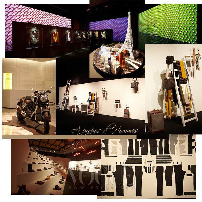 현대백화점 무역센터점에서 진행된 에르메스의 전시 'A propos d'Hommes(아 프로포 돔므)'.