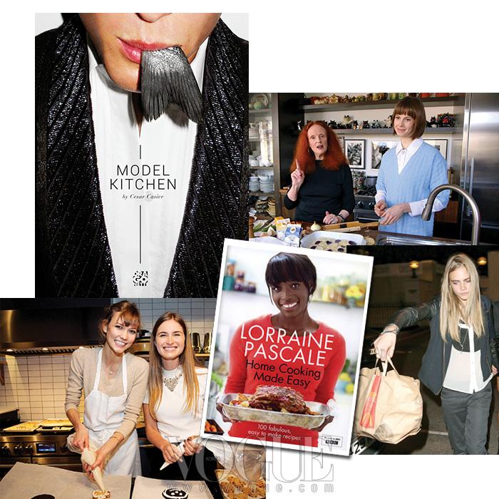 모델 세자르 카시어와 유명 파티시에 겸 전직 모델인 로레인 파스칼의 요리책, 그레이스 코딩턴이 출연한 엘레트라 비더만의 요리 동영상,  로렌 부시와 쿠키를 제조 중인 칼리 클로스, 맥도날드 마니아 카라 델레바인.