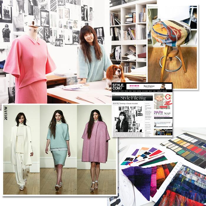 애완견 '써니'와 함께 작업실에서 포즈를 취한 디자이너 이정선. 미국 스타일닷컴은 물론 패션 저널리스트 사라 무어의 절대적 지지를 받고 있는 그녀는 미니멀리즘을 기본으로자신만의 패션 영역을 확장하고 있다.
