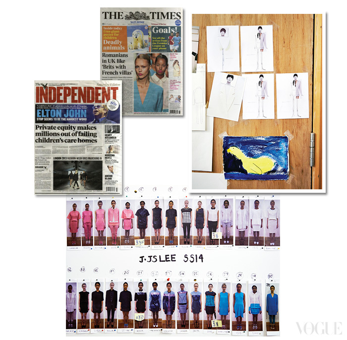'뉴젠' 어워드 수상자들 가운데 시몬 로샤와는 막역한 사이. 뉴젠 멤버들이 런던 패션 위크에 참여해 맹활약하고 있는 요즘, 런던 패션 위크 기간이 되면 나  같은 영향력 있는 매체들이 이정선의 컬렉션을 비중 있게 보도한다.