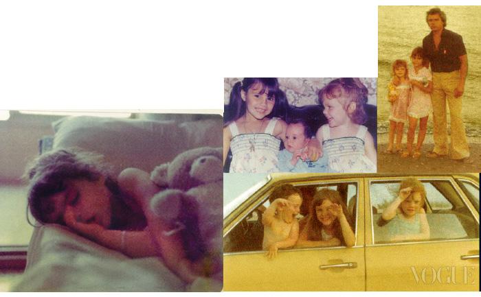 어린 시절, 가족끼리 여행을 자주 다녔기 때문에 여동생, 남동생과 함께 찍은 사진이 많이 남아 있다. 똑같은 옷을 맞춰 입은 자매의 모습이 무척 사랑스럽다.