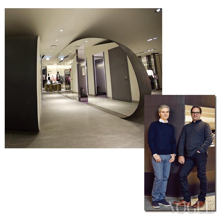 '조약돌'로 불리는 대형 피팅룸은 2층의 명물이다. 갤러리아 웨스트는 왼쪽의 폴 필렉과 오른쪽의 디에고 버디가 운영하는 '버디필렉'의 인테리어에 의해 재단장됐다.