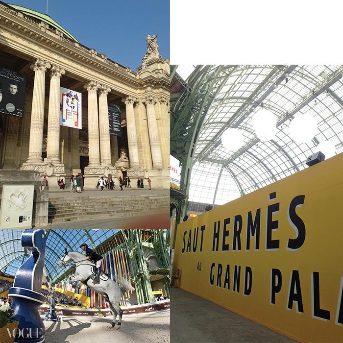 제5회 '점핑 에르메스'가 성대하게 열린 파리 그랑 팔레. 18개국 40명 기수와 100마리 말이 참가한 국제 장애물 점핑 경기가 열렸다.