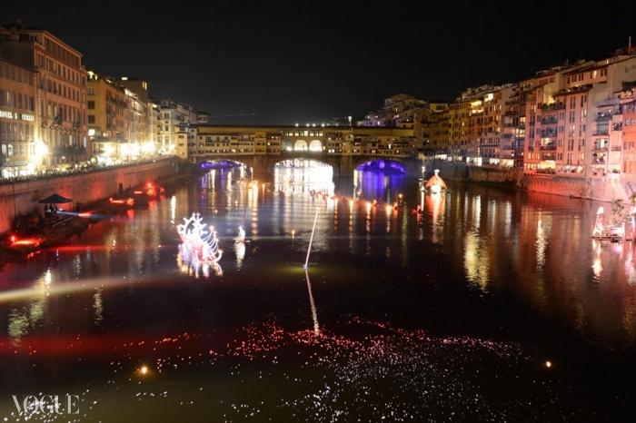 'Firenze Hometown of Fashion' 행사의 인상적인 개막식.