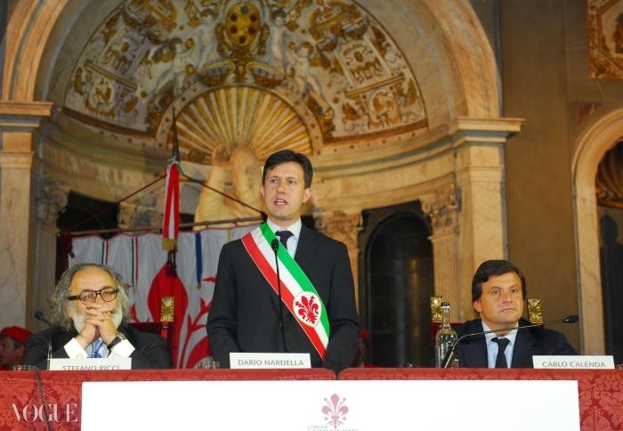피렌체의 신임 시장 다리오 나르델라가 개막식에서 연설하고 있다. ⓒ Studio Nonamephoto