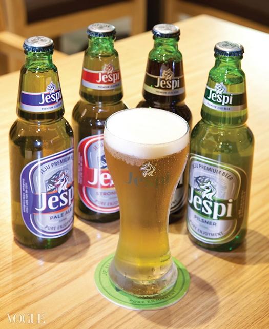 제주도에서만 마실 수 있는 제주도 맥주 제스피. 병맥주는 현재 필스너만 출시되고 있다.