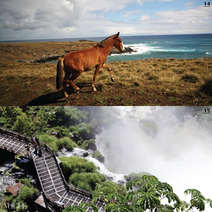 14 남미 관광의 정점인 이구아수 폭포. 15 아름다운 리조트에 머물며 느긋하게 풍경을 감상할 수 있는 이스트 섬.