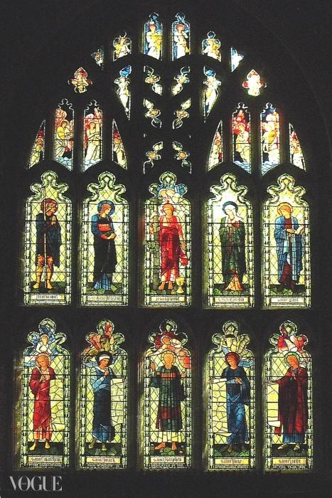 에드워드 번-존스(Edward Burne-Jones)의 스테인드글라스 창. ⓒ www.english-church-architecture.net