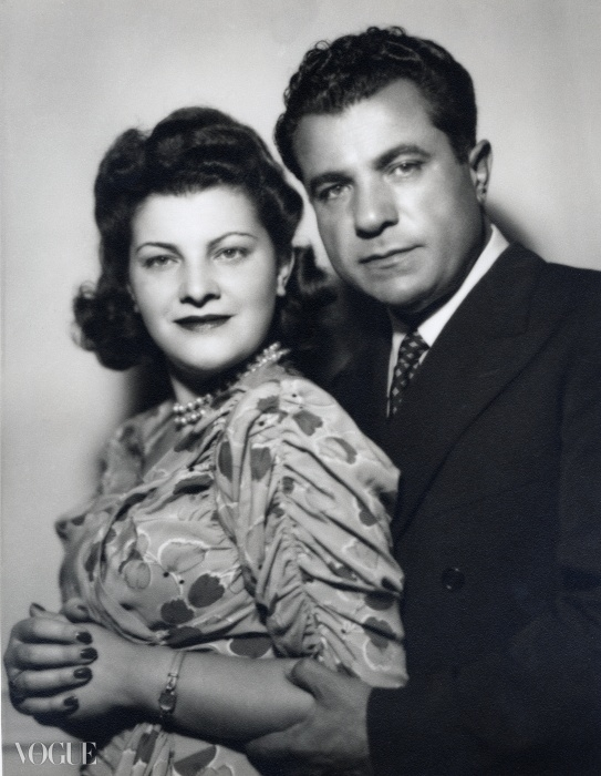 30년대 말 결혼식 무렵의 살바토레 페라가모와 그의 아내 완다.