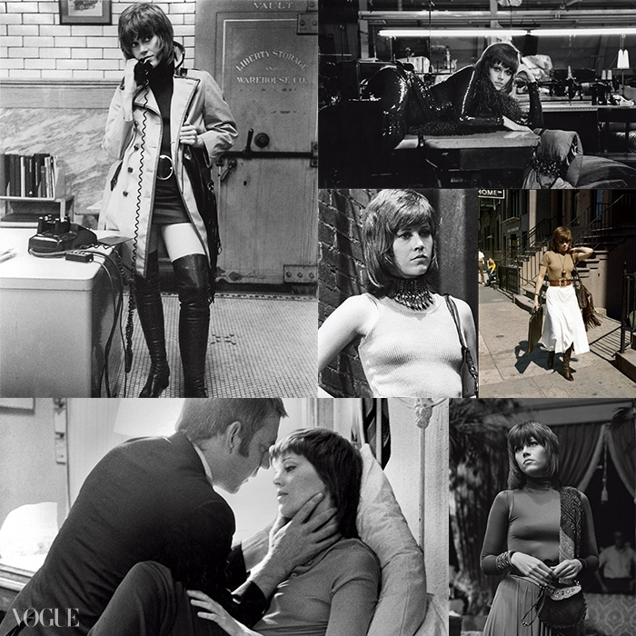40년이 넘은 지금까지 영향력을끼치고 있는 영화 <클루트> 속제인 폰다의 스타일. 60년대 스타일의유행과 함께 다시 한 번< 클루트> 속 브리 다니엘스의옷차림이 주목 받고 있다.