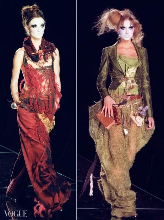 2000년 존 갈리아노의 '호보(Hobo)' 꾸뛰르 쇼에 등장한 모델들. ⓒ GETTY