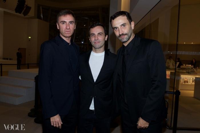 왼쪽부터 디올의 라프 시몬스, 루이 비통의 니콜라스 게스키에르, 지방시의 리라르도 티시. © Getty