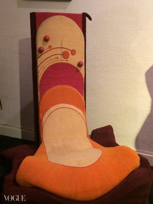 피에르 가르뎅이 디자인한 의자ⓒ수지 멘키스