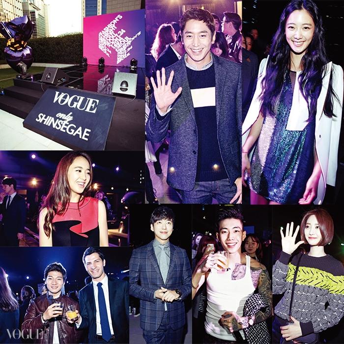 박재범의 열정적인 공연으로뜨겁게 달아올랐던 파티 현장.수주, 김원중 등의 슈퍼모델들은물론 에릭, 김민정, 고준희,클라라, 이정진 등의 스타들도<보그>와 함께 파티를 즐겼다.