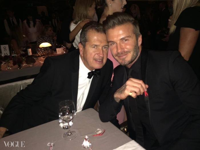 마리오 테스티노(Mario Testino)와 데이비드 베컴(David Beckham)