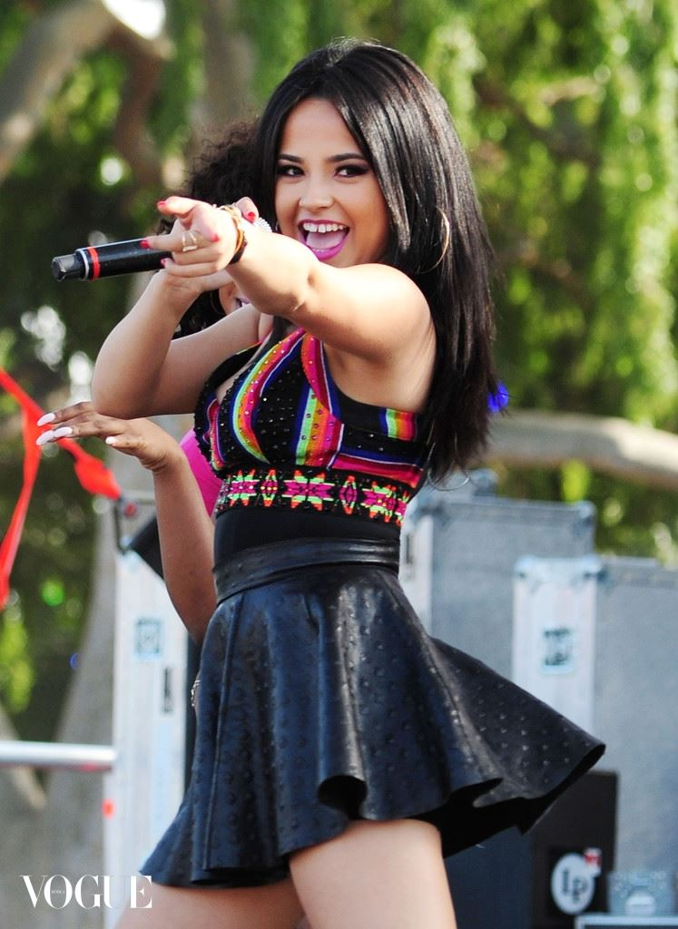 ***NO DAILY MAIL SALES***Becky G and Lisa Vanderpump at the LA Gay Pride Festival in West Hollywood