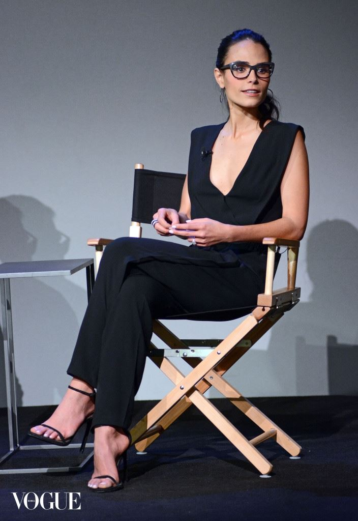 Jordana Brewster appears at the Apple Store in Soho in New York City, NY