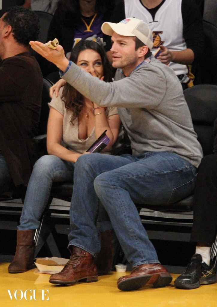 Mila Kunis and Ashton Kutcher get away from the baby for a night