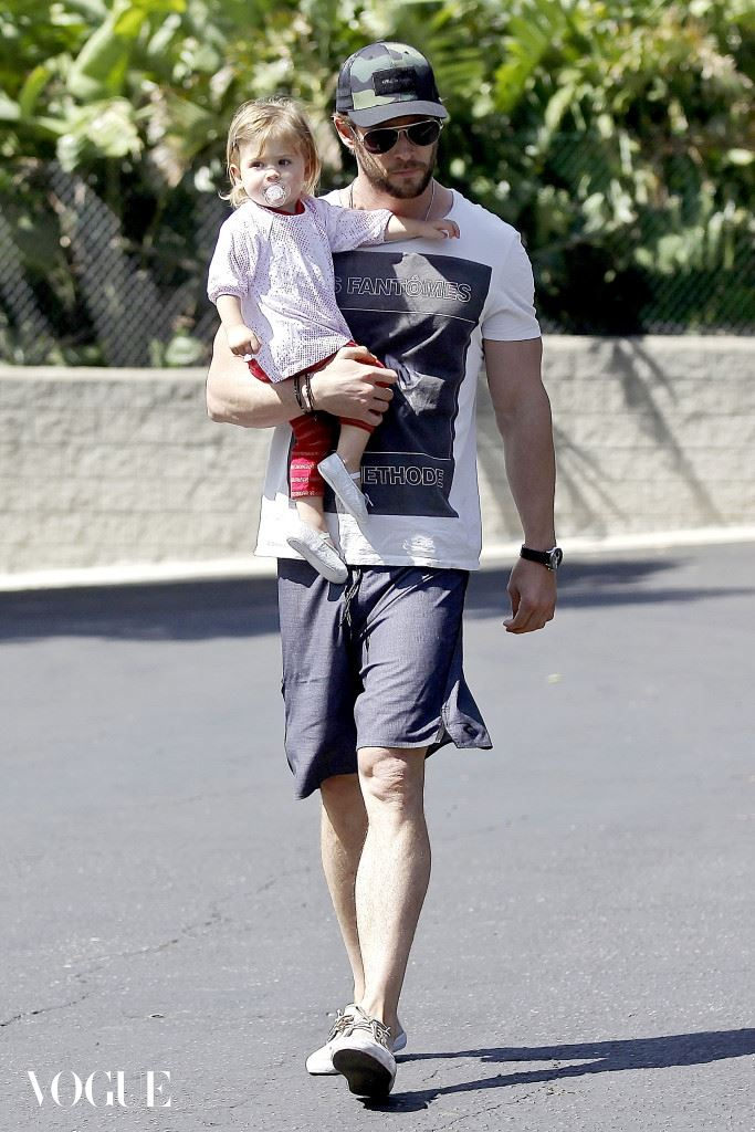 Chris Hemsworth has a day out with daddy's little girl
