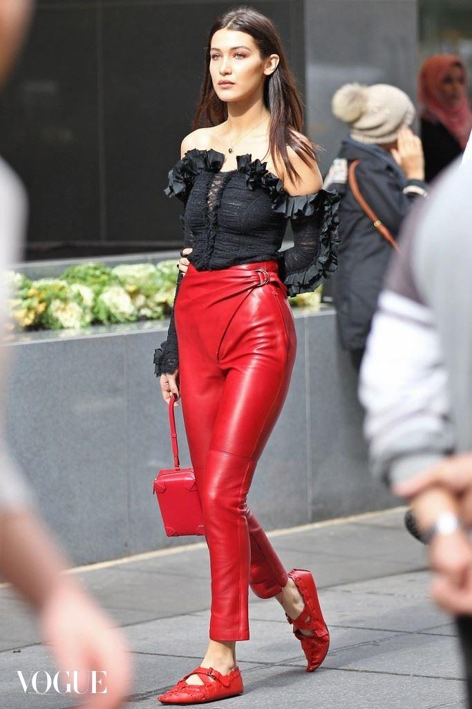 EXCLUSIVE: Bella Hadid photo shoot in New York