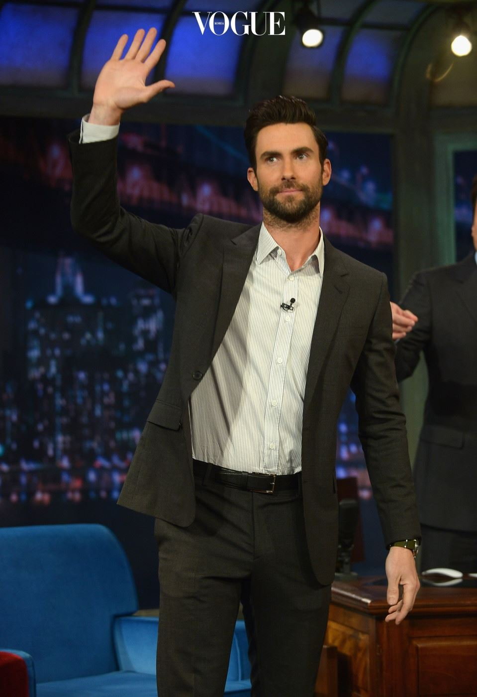 """NEW YORK, NY - JUNE 14:  Adam Levine visits """"Late Night With Jimmy Fallon"""" at Rockefeller Center on June 14, 2013 in New York City.  (Photo by Theo Wargo/Getty Images)"""