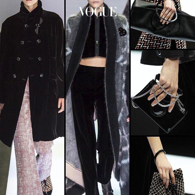 Velvet Blackmine! 올해 나이 83세. 1975년, 첫번째 컬렉션부터 42년간 최고의 쇼를 선보이는 거장, 조르지오 아르마니(Giorgio Armani) 16F/W 컬렉션, 'Black Velvet' 벨벳으로 휘감은 아르마니 숙녀들의 가방 쥐는 법도 눈여겨 보세요!