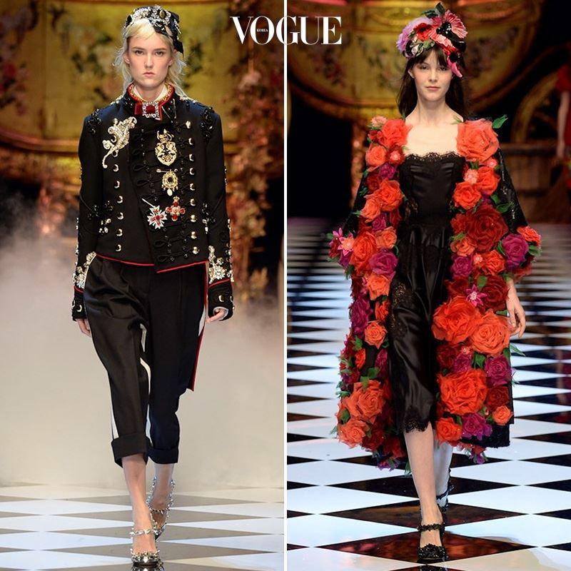 ▲ 사진을 클릭해 Dolce & Gabbana 2016 F/W 컬렉션 룩을 모두 감상하세요.