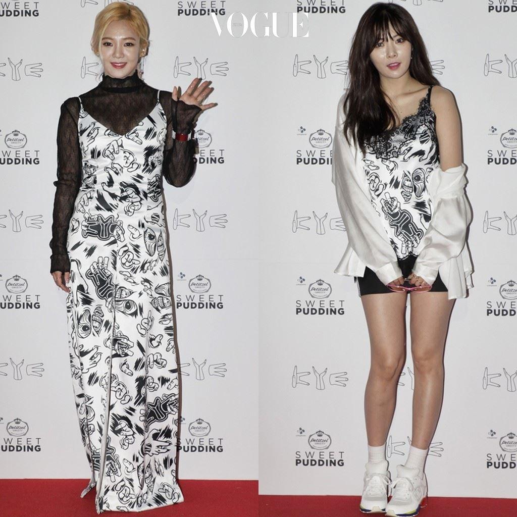 해외 셀러브리티들의 파파라치에서만 보던 그 슬립 드레스. 하지만 이게 웬걸요. 사랑스러운 걸그룹의 대명사, 소녀시대 효연과 포미닛의 현아까지 슬립 드레스를 선택할 줄이야!