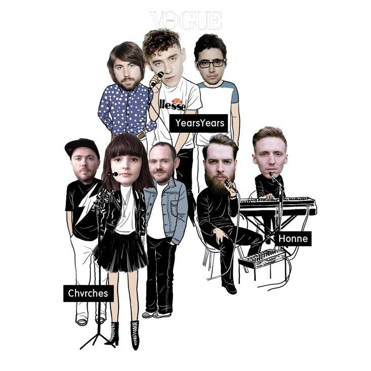 이어스&이어스(Years&Years) 이어스&이어스의 성공기는 아 마도 미카, 아델, 샘 스미스 등 현재 영국 음악 신을 대표하는 뮤지션 들을 일찌감치 발굴했던 'BBC Sound'가 2015년의 주인공으로 이들을 지목하면서부 터였을 것이다. 복고풍 일렉트로 하우스 비트에 섬세한 멜로디와 호흡을 얹은 이들의 노 래는 '사랑스러움'이라는 단어를 인간으로 빚으면 이렇지 않을까 싶은 보컬 올리 알렉산 더(Olly Alexander)를 꼭 닮았다. 혼네(Honne) '본심에서 우러나오는 말'이라는 뜻의 일본어 '혼네'를 밴드명으로 차용한 것에서 'Shimokita Import'라는 쓸데없이 디테일한 부제까지. 대체 뭐 하는 이들인가 싶지만, 음악을 듣는 순간 모든 의심은 봄눈 녹듯 사라진다. 뜨겁지도 차갑지도 않은 일 렉트로 소울. 아직 정규 앨범 한 장 갖지 못한 듀오의 미래가 마냥 밝고 보인다.처치스(Chvrches) 본토 영국에서 2013년 발표한 앨범  이후 꾸준한 활동으로 명성을 이어가고 있는 신스팝 밴드. 맑고 영롱한 곡조 와 그에 꼭 어울리는 목소리와 외모를 지닌 보컬 로렌 메이베리(Lauren Mayberry)의 인기가 밴드 커리어의 중심이다. 마냥 꽃 같은 프런트우먼이 아닌, 발언하고 행동하는 페 미니스트로서의 활약도 인상적이다