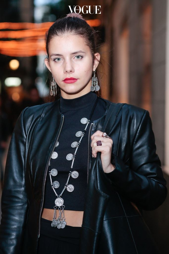 BARCELONA, SPAIN - OCTOBER 23:  Tiziana poses wearing Zara jacket, Oysho top and trousers, Catherine Parra handbag, Asos Asos shoes, Regal Rose jewelry, Pull & Bear earrings and Papillon jewelry at the Born district on October 23, 2015 in Barcelona, Spain.  (Photo by Miquel Benitez/Getty Images)