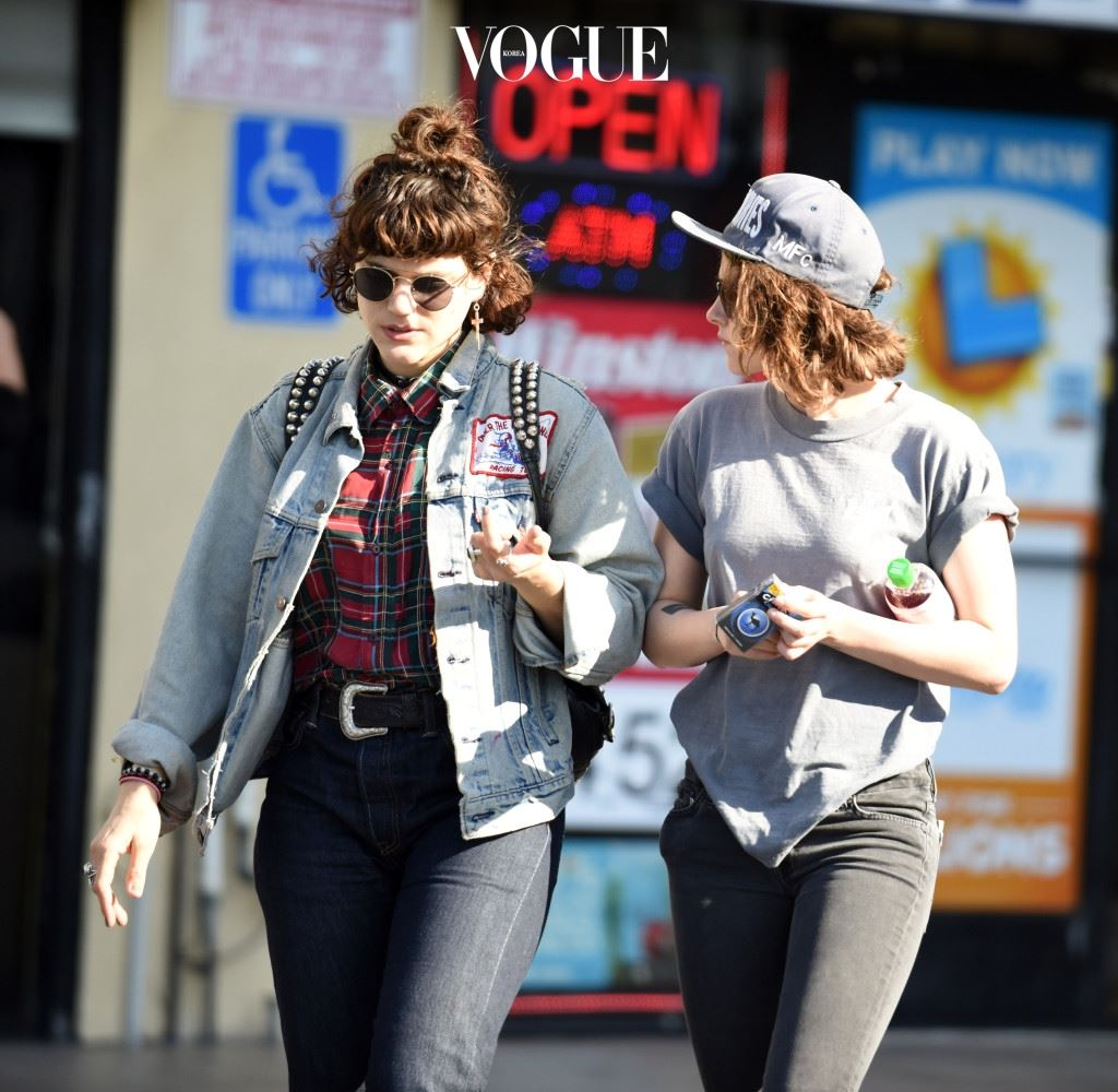 EXCLUSIVE: *PREMIUM EXCLUSIVE RATES APPLY* *NO WEB UNTIL 11.30PM PST, MARCH 3* Kristen Stewart gets close to French actress and singer Soko after lunch in LA. Soko, real name Stéphanie Sokolinski, put her arm around Kristen - who reportedly split with Alicia Cargile last year and has been linked to rocker Lyndsey Gunnulfsen - as they walked down the street. Pictured: Kristen Stewart Ref: SPL1239761  030316   EXCLUSIVE Picture by: M A N I K (NYC) / Splash News Splash News and Pictures Los Angeles:310-821-2666 New York:212-619-2666 London:870-934-2666 photodesk@splashnews.com