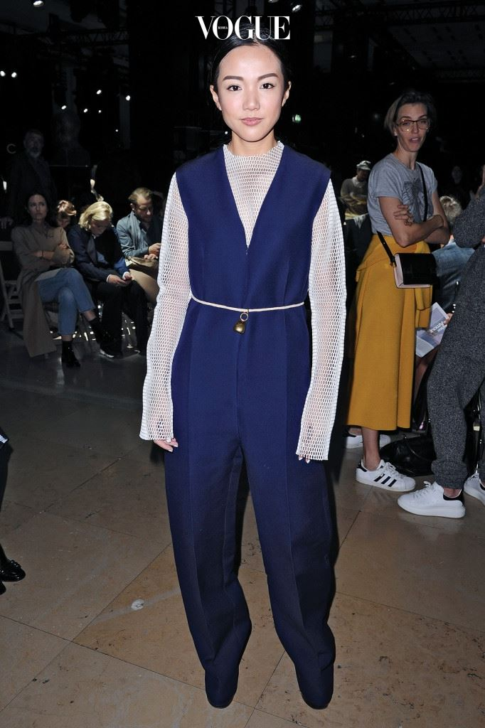 PARIS, FRANCE - OCTOBER 05: Yoyo Cao attends the Sacai show as part of the Paris Fashion Week Womenswear Spring/Summer 2016 on October 5, 2015 in Paris, France.  (Photo by Francois Durand/Getty Images)